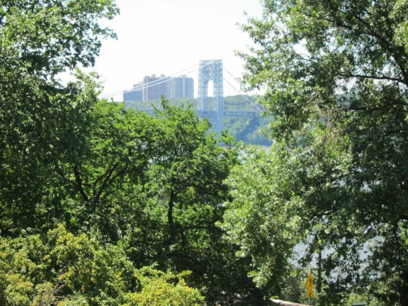 George Washington Bridge from the Cloisters. The buildings are in Fort Lee, where I used to live.