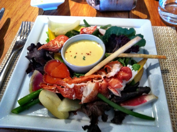 Lobster salad, I can give up meat easily but lobster is another matter.